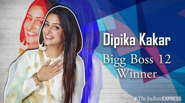 Image result for 2018 Bigg Boss Hindi Season 12 - Dipika Kakar Wins Title
