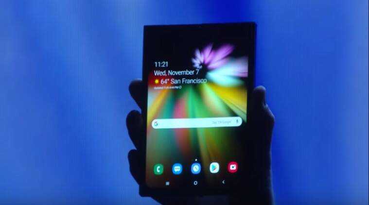 Samsung, Samsung Galaxy F, Samsung Galaxy F foldable phone, Samsung Galaxy F phone, Galaxy F launch, Galaxy F features, Galaxy F price in India, Galaxy F specifications