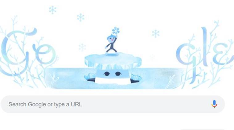 Google, Google doodle, google doodle today, today google doodle, winter solstice, winter solstice 2018, winter solstice, what is winter solstice, google winter solstice, winter solstice google doodle, shortest day of they year, longest night, shortest day winter, indian express, latest news