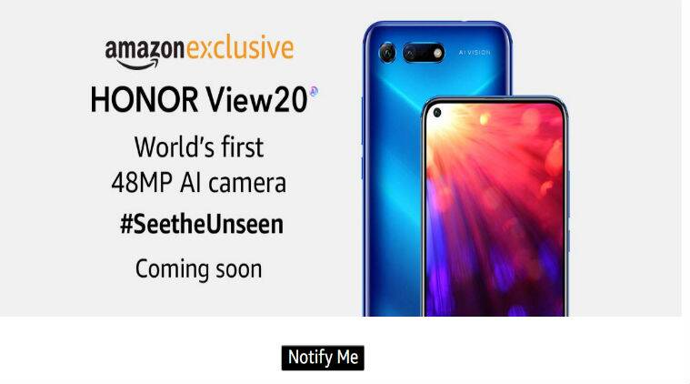 Honor View20, Honor View20 price in India, Honor View20 launch in India, Honor View20 Amazon India, Honor View20 specifications, Honor View20 features, Honor View20 release date in India, View20 Honor