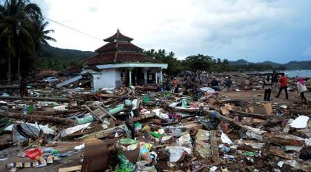 Sumatra and Java islands, Indonesia tsunami, volcanic tsunami in Indonesia, Anak Krakatau, 222 people killed by tsunami, World news, Indian Express