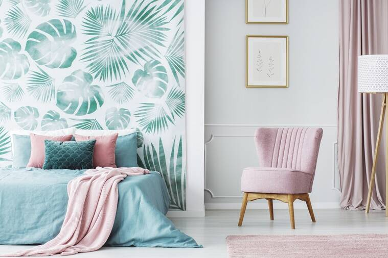 interior decor 2019, interior decor trends of 2019, interior decor trends pinterest, Mustard yellow walls , Fireplaces, Geometric walls, vintage style wallpaper, tin decor, cactus plant, living room, walled garden, vertical gardens, Bold wallpaper, tropical leaves, quirky designs, bright prints, Natural swimming pool, indian express, indian express news