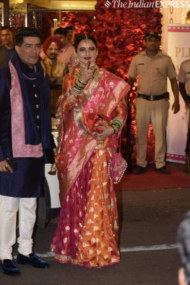 Rekha with manish malhotra