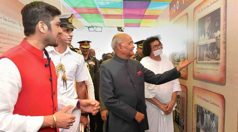 Ram Nath kovind, President RAM nath kovind, kovind on yoga, yoga institute, yoga institute in mumbai, yoga institute celebration, centenary year celebration, mumbai news, indian express