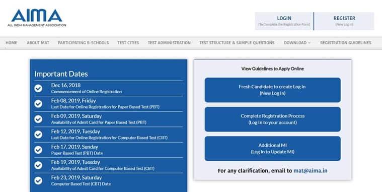 mat, aima, mat.aima.in, mat 2019, mat 2019 date, mat admit card, mat exam date, mat deadline, mat format