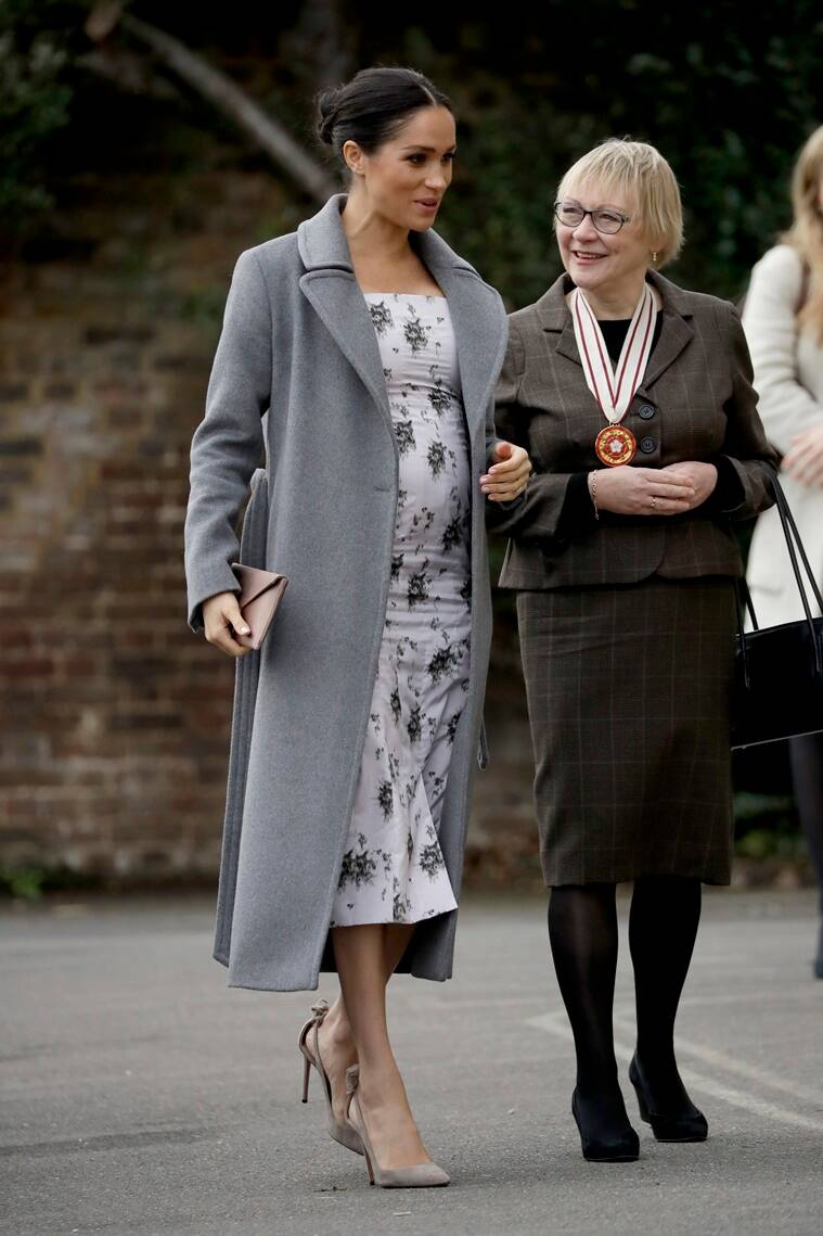 Meghan Markle S Latest Maternity Outfit With The Cute Baby Bump On