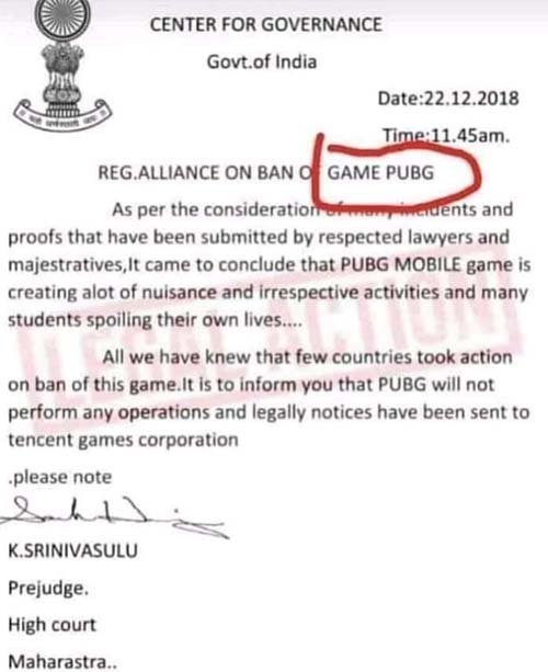 PUBG Mobile banned by the Bombay High Court? These reports are not