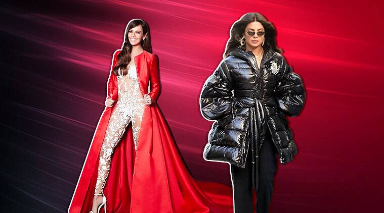weird fashion trends 2018, bizarre fashion trend 2018, fashion trends, fashion trends of 2018, latest fashion trends, Karl Lagerfeld, fendi, celine, gucci, Extreme cut out jeans, Giant jackets, Naked bridal jumpsuit, Fendi's vagina shawl, Christopher Kane, Double Jeans, Gucci's Fall/Winter'18 collection , ASOS Chainlink jeans , plastic bags Celine, bum rip jeans, indian express, indian express news