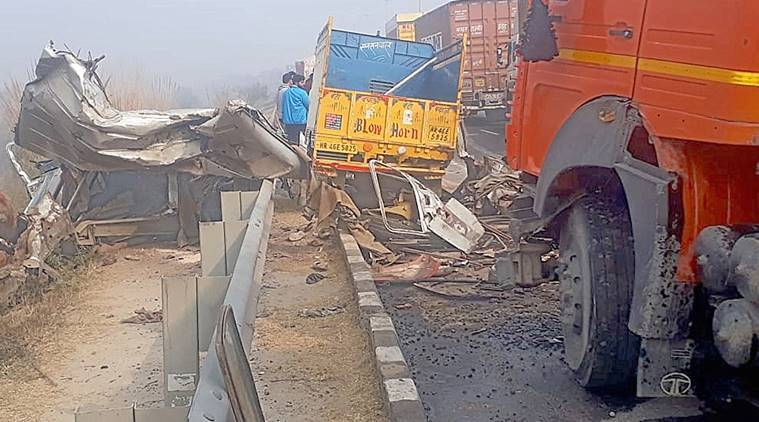 Eight killed in 50-vehicle pile-up on Rohtak-Rewari highway
