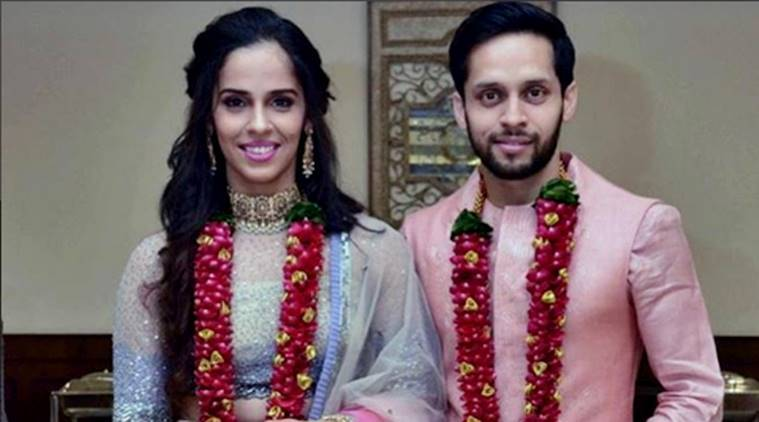 Saina Nehwal, Parupalli Kashyap, Saina Nehwal Parupalli Kashyap, Saina Nehwal wedding, Parupalli Kashyap wedding, Saina Nehwal Parupalli Kashyap wedding, Saina Nehwal marriage, Parupalli Kashyap marriage, Hyderabad Saina Nehwal Parupalli Kashyap latest news, Saina Nehwal Parupalli Kashyap updates, celeb fashion, indian express, indian express news