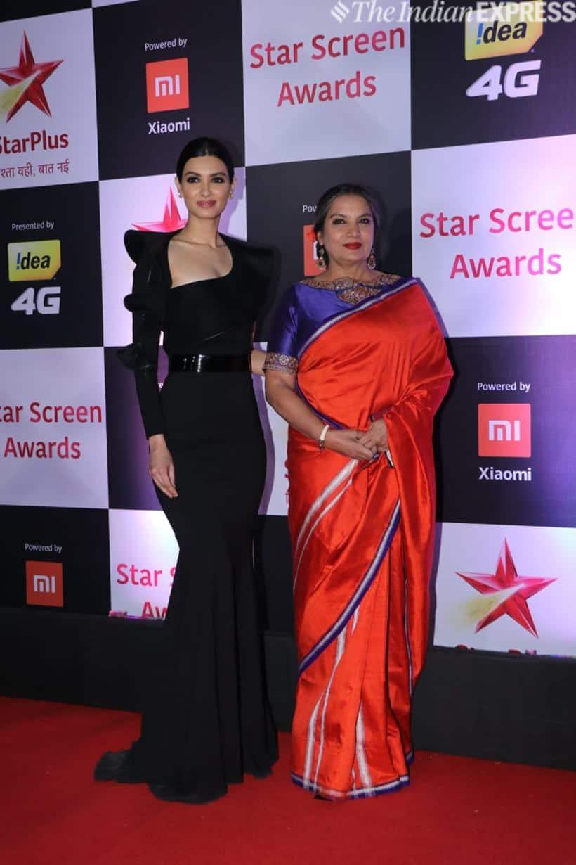 Diana Penty with Shabana Azmi