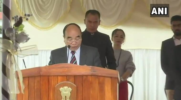 Zoramthanga takes oath as chief minister of Mizoram