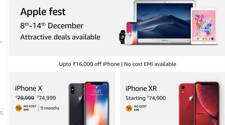 new product 303ff e5497 Apple fest on Amazon: Top deals on iPhone X, iPhone XR, MacBook Air ...