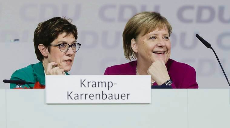 Annegret Kramp-Karrenbauer, Angela Merkel, Chrisitan democratic union, CDU germany, Angela merkel germany, world news, indian express