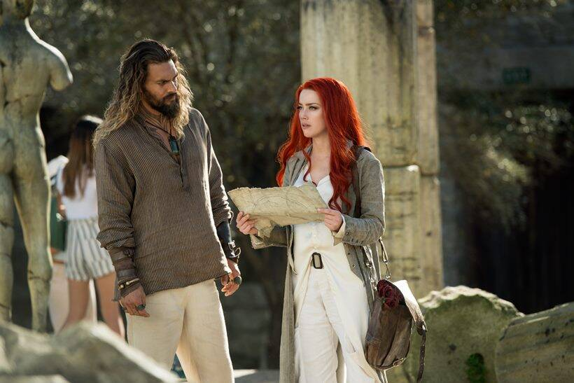 aquaman jason momoa and amber heard
