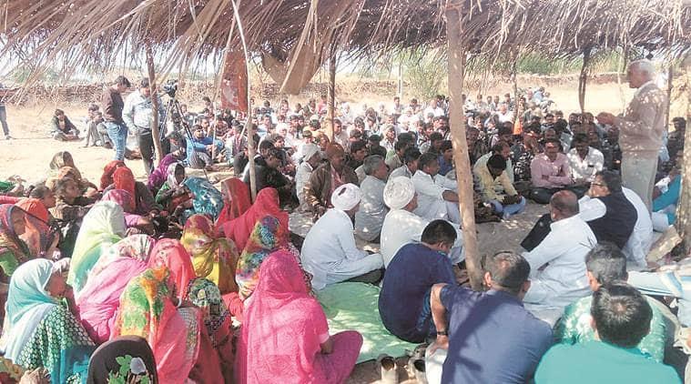 Gujarat, Gujarat protests, Gujarat limestone mining, limestone mining protets, bhavnagar, bhavnagar mining protests,UltraTech Cement Limited, gujarat mining, Indian express
