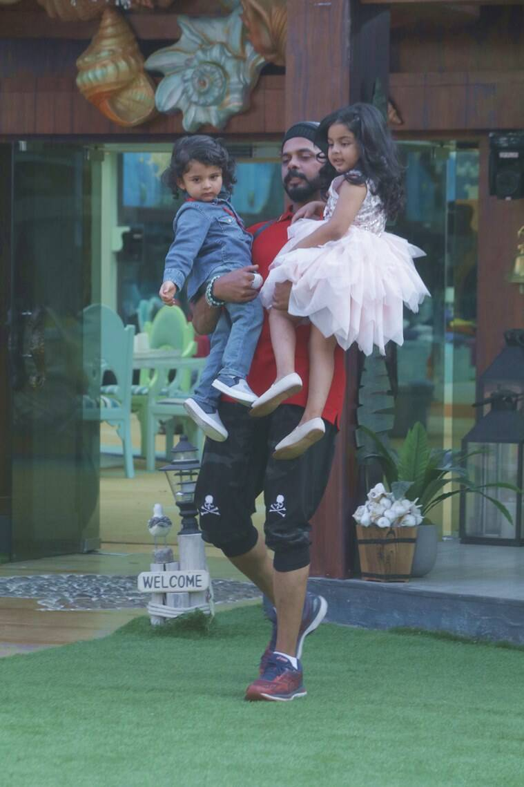 sreesanth with kids in bigg boss 12