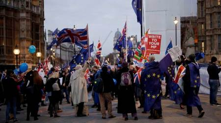 Brexit news, brexit, protests brexit, protests against,brexit, protests outside parliment, brexit london protests, world news, Indian Express News