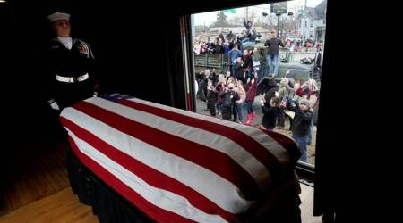 Body of former President George HW Bush brought to Texas burial site