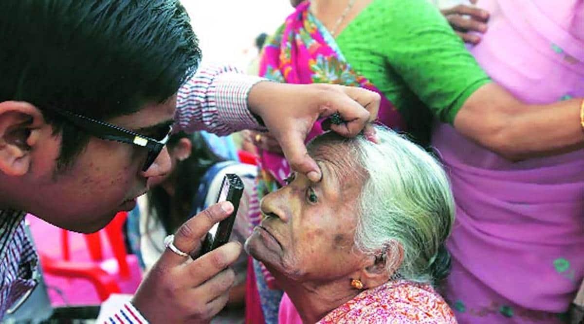 Pradhan Mantri Jan Arogya Yojana (PMJAY), cataract surgeries,National Programme for Control of Blindness and Visual Impairment (NPCBVI), NPCB, Indian Express