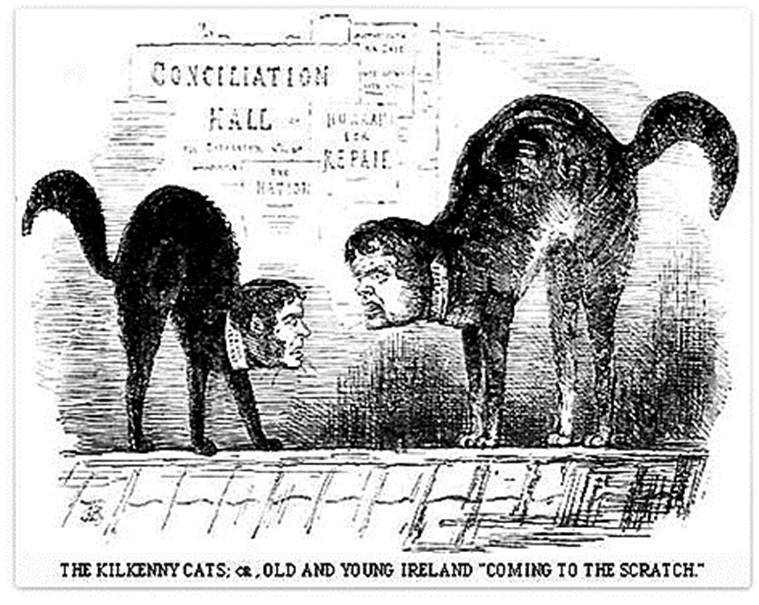 This word means: Kilkenny cats