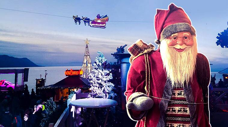 christmas, happy holidays, christmas at alps, christmas alps, flying santa, christmas traditions, flying santa, christmas santa, christmas alps, indian express, indian express news