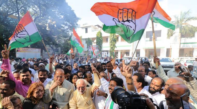 Congress workers celebrate 'comeback' in three states, BJP leaders look for answers