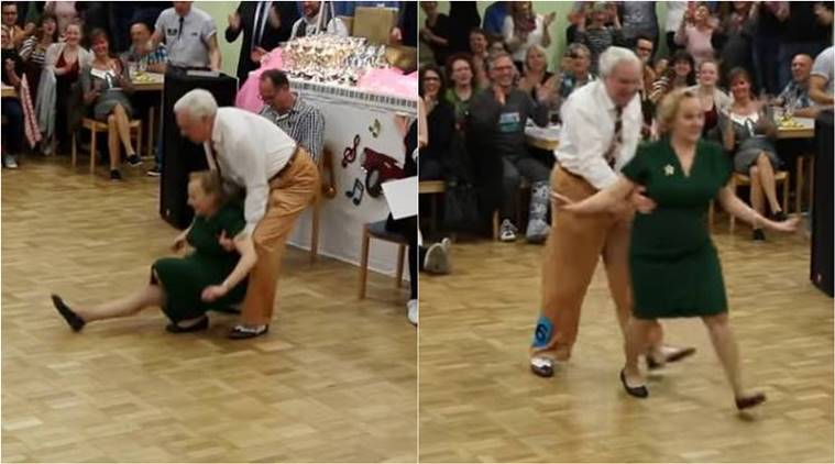 elderly couple dance moves, elderly couple, rock and roll dance moves, viral video, germany, couple in germany,