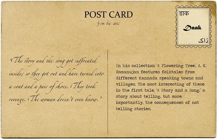 Daak, Daak vaak, Indian history, postcards from the attic, history postcards, Mirza Ghalib, M F Husain, Amrita Pritam, Annada Sankar Ray, Hiren Bhattacharya, Daak vaak project, Onaiza Drabu, Prachi Jha, daak postcards, indian express
