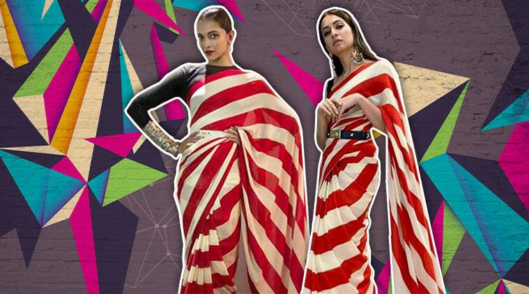 Deepika Padukone or Kriti Kharbanda: Who wore Sabyasachi's candy-striped sari better?