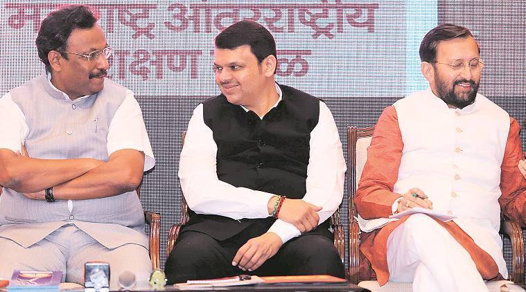 maharashtra international education board, devendra fadnavis, prakash javadekar, maharashtra education, maharashtra news, indian express
