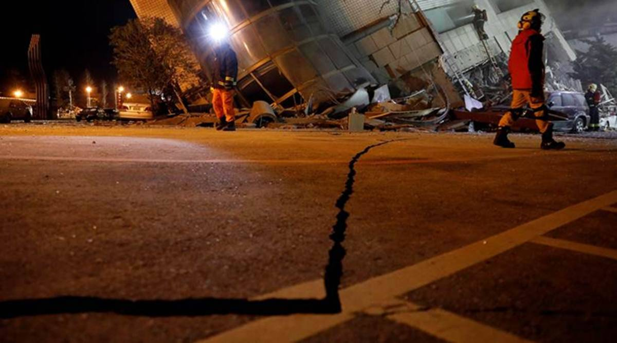 Earthquake in Taiwan, Taiwan earthquake, Earthquake, Taiwan earthquake magnitude, Taipei, Taiwan news, Taiwan earthquake news, World news, Indian Express
