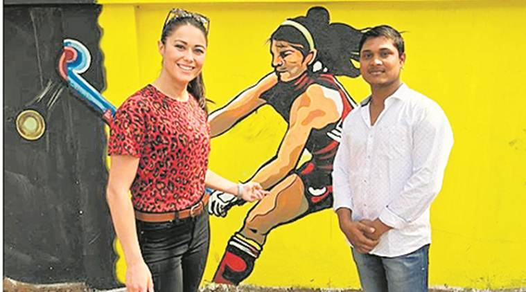 Hockey World Cup 2018: Chance sighting of mural sees artist meeting his muse