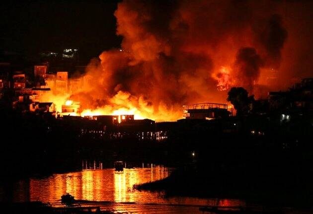 Fire engulfs 600 stilt homes in Brazil city Manaus; thousands flee