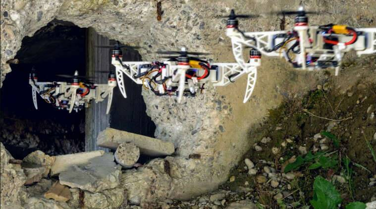 Foldable drone, University of Zurich, India drone regulations, new morphing drone, Ecole Polytechniquie Federale du Lausanne drone, autonomous drone manoeuvers, drone cameras, mid air drone movements, drone propelling mechanism, onboard drone cameras, drone technology