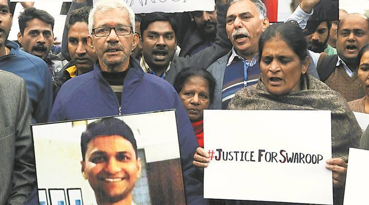 Genpact exec's family protests outside his office