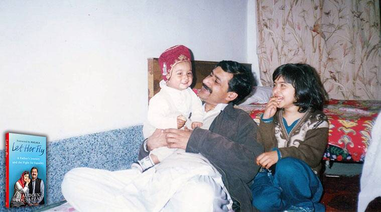 Ziauddin Yousafzai with daughter Malala, malala family