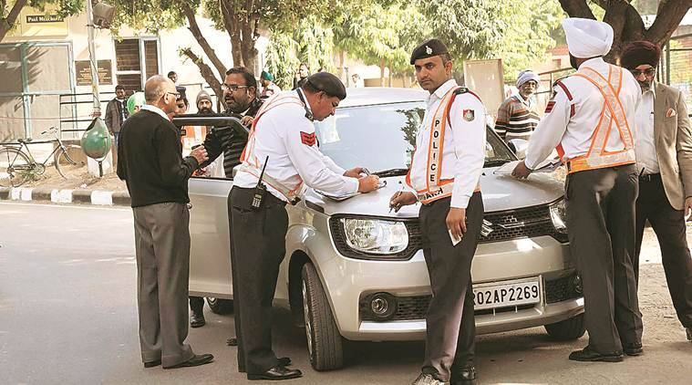 Drive against honking in hospitals: 19 motorists challaned on first day in Chandigarh