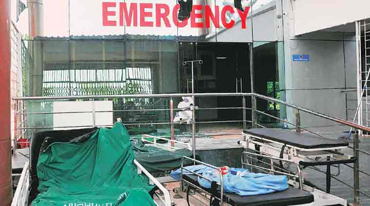 vs hospital row gujarat cong to hold road jam in all 48 wards