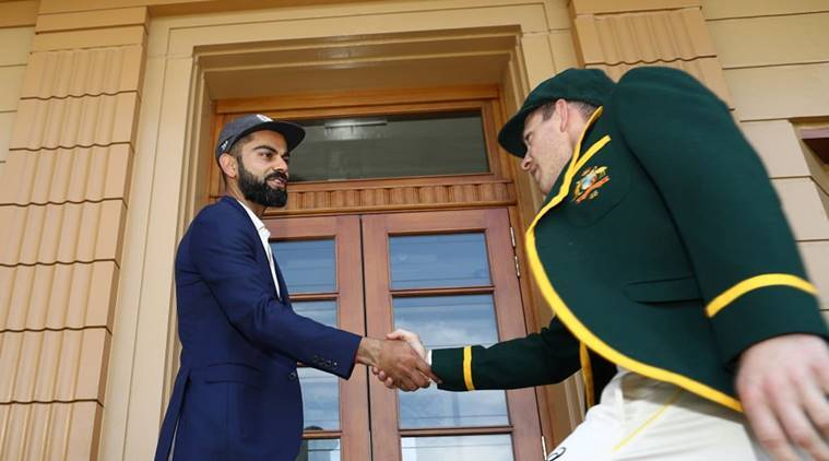 Virat Kohli and Tim Paine during the official photo ahead of the Border Gavaskar Trophy.