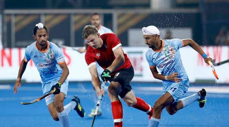 India vs Canada in the group fixture at the Hockey World Cup