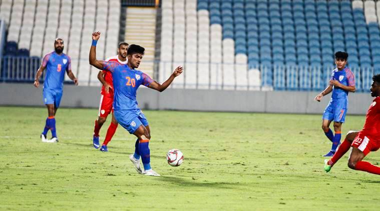 India and Oman players in friendly before AFC Asian Cup