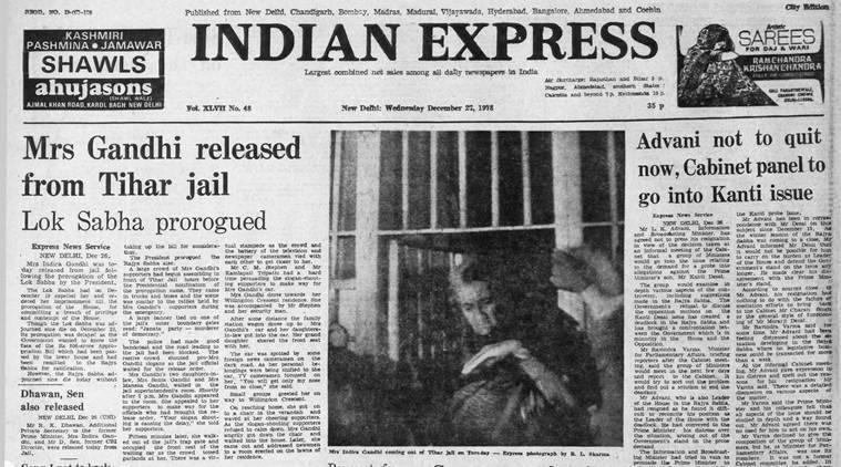 indian express archives, indian express old issues, indira gandhi, indira gandhi prime minister, forty years ago indian express, india news, latest news, indian express