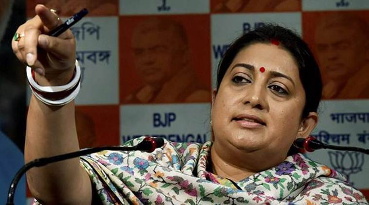 """Why should an Indian be apologetic about being patriotic or loving their country or flag in this very country?"" Smriti Irani asked. (Photo credit: PTI/File)"