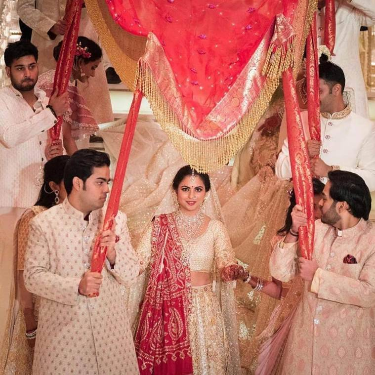 ishan ambani wedding inside photos