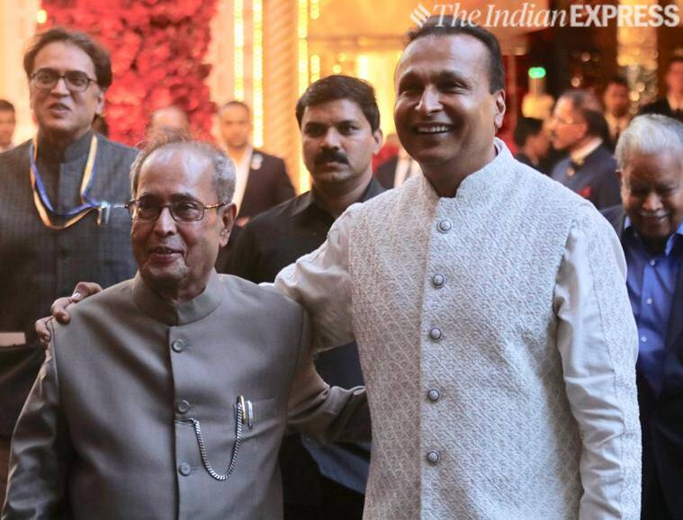 Pranab Mukherjee at Isha Ambani wedding