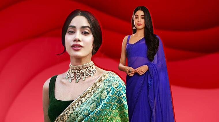 Janhvi Kapoor looks like a spitting image of Sridevi in these designer saris