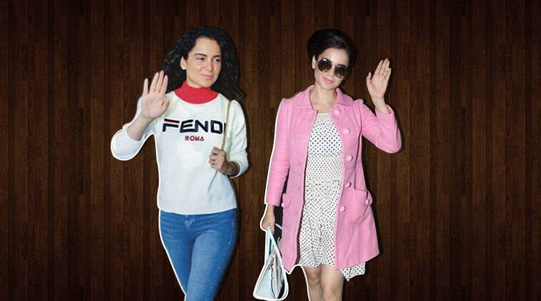 kangana ranaut, kangana ranaut fashion, kangana ranaut style, kangana ranaut airport look, kangana ranaut latest pics, kangana ranaut latest news, celeb fashion, bollywood fashion, indian express, indian express news