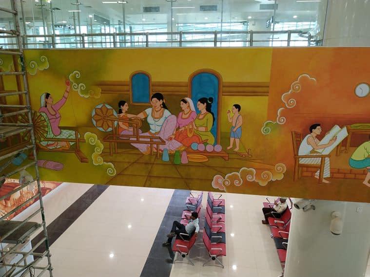 KIAL, Kannur International Airport, Kannur Airport Terminal, Kannur Airport artwork, Firos Assan