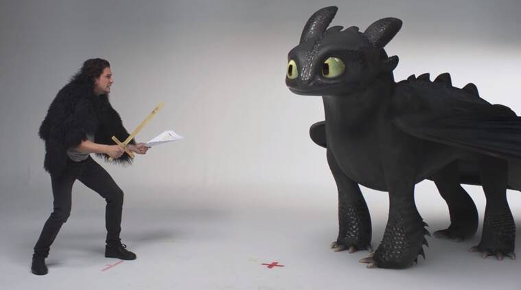 Jon Snow and Toothless audition in How to Train Your Dragon The Hidden World promo
